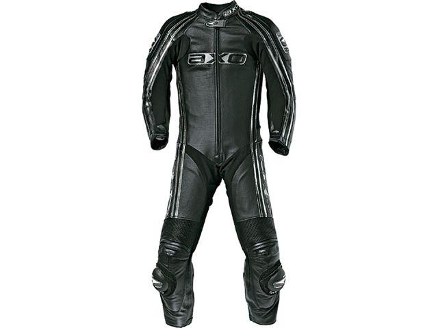 送料無料 AXO アクソー レーシングスーツ レーシングスーツ「BULLET」 ブラック 46/89-92cm