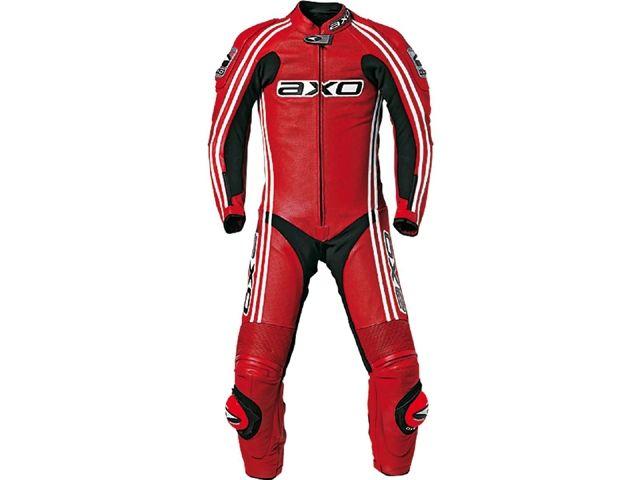 送料無料 AXO アクソー レーシングスーツ レーシングスーツ「BULLET」 レッド 52/101-104cm