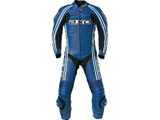 送料無料 AXO アクソー レーシングスーツ レーシングスーツ「BULLET」 ロング ブルー 54/105-108cm