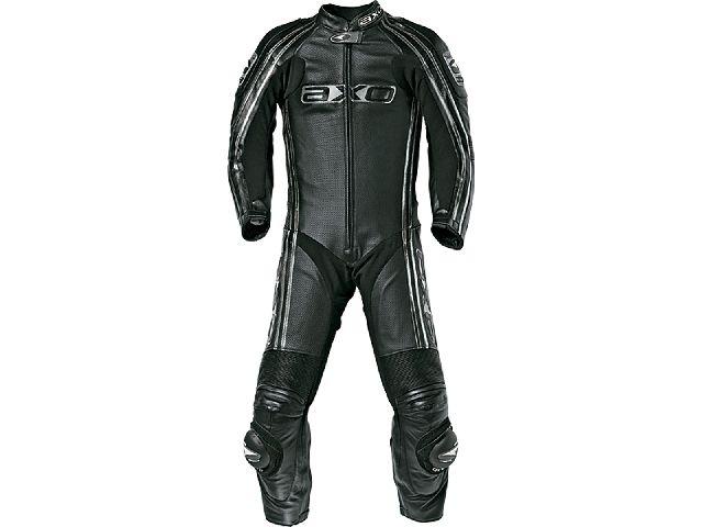 送料無料 AXO アクソー レーシングスーツ レーシングスーツ「BULLET」 ロング ブラック 46/89-92cm