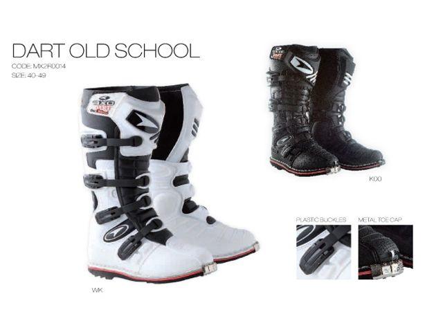 送料無料 AXO アクソー オフロードブーツ オフロードブーツ「DART OLD SCHOOL」 ホワイト 44