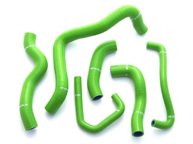 ネックスパフォーマンス ニンジャZX-6R 冷却系ホース類 シリコンラジエターホースキット グリーン
