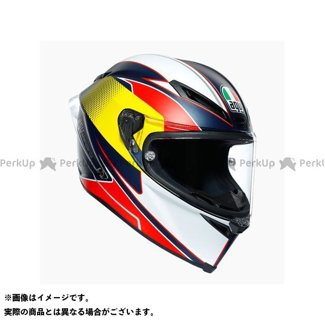 AGV エージーブイ フルフェイスヘルメット ヘルメット AGV CORSA R 005-SUPERSPORT BLUE/RED/YELLOW L メーカー在庫あり エージーブイ
