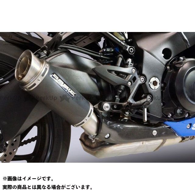 ボディス GSX-S1000 GSX-S1000F GPC-RSII スリップオンマフラー(カーボンカバー付)ステンレスブラック for GSX-S1000/F(2017-)|SGSXS1000-006 BODIS
