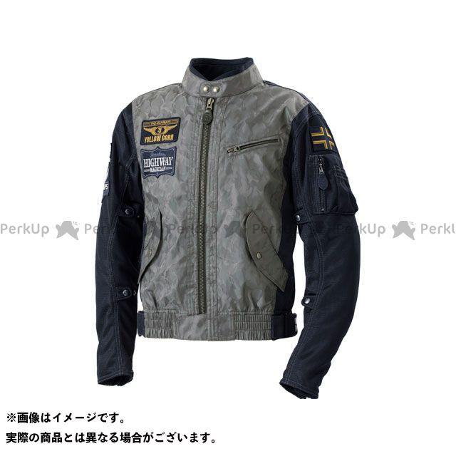 イエローコーン 2020春夏モデル YB-0103 コンビメッシュジャケット(ブラックカモフラージュ) 3L YeLLOW CORN