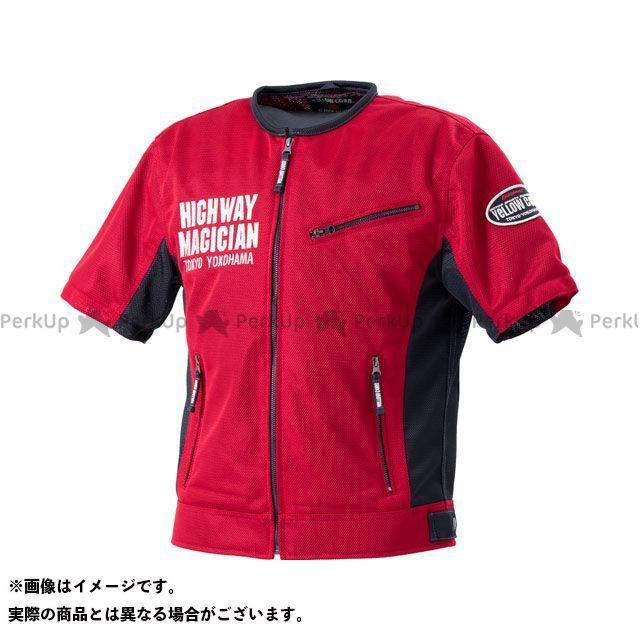 イエローコーン 2020春夏モデル YMT-001 プロテトメッシュTシャツ(レッド) サイズ:M YeLLOW CORN