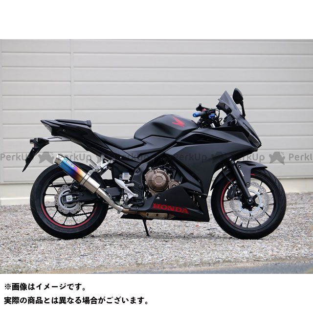 WR'S CBR400R ラウンドフルエキゾースト チタン(焼色) WR'S