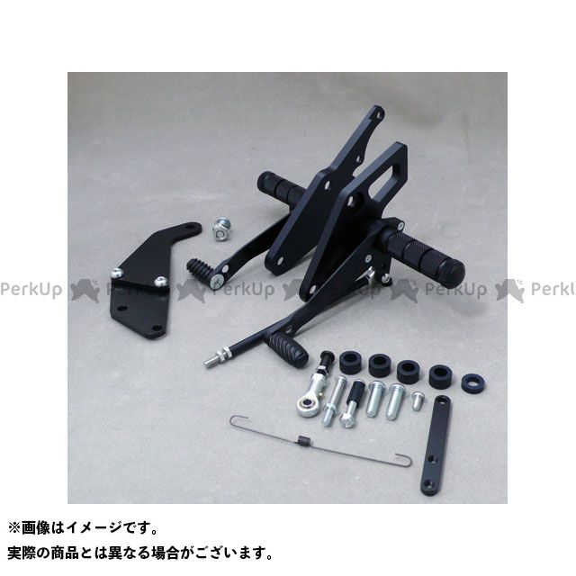 WR'S ZRX400 ZRX400- バトルステップ1ポジション ブラック WR'S