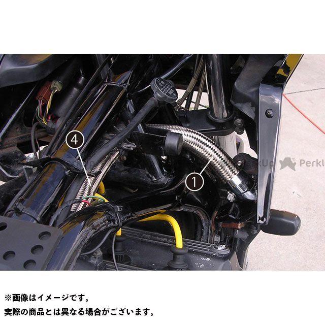 PMC ラジエターホース GPZ900R レッド/キャップ~ラジエター ピーエムシー