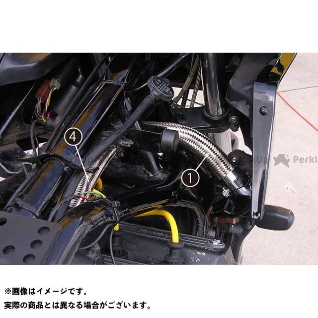 PMC ラジエターホース GPZ900R レッド/ポンプ~シリンダー ピーエムシー