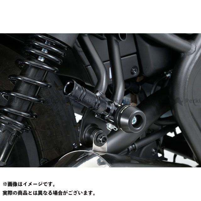 【エントリーで最大P21倍】オーバーレーシング レブル250 Rebel250(17-) タンデムステップスライダー(ブラック) OVER RACING