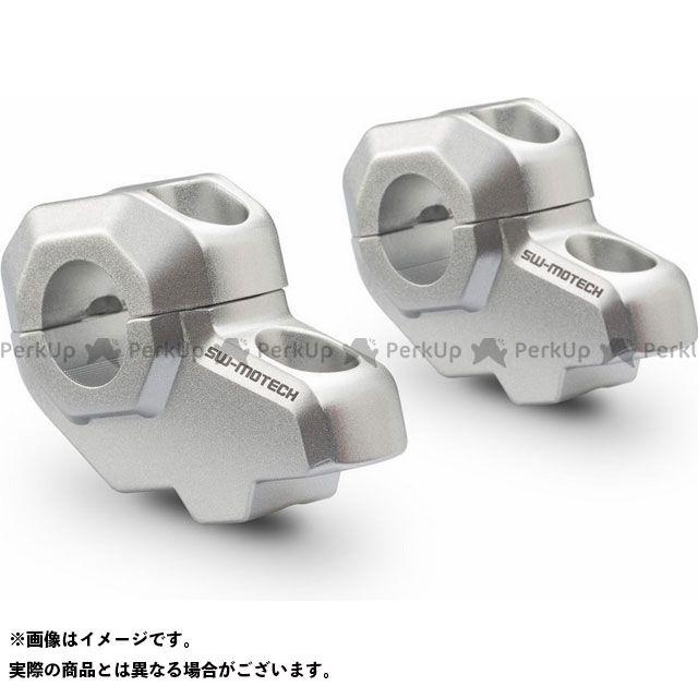 【エントリーで更にP5倍】SWモテック バーライザー Φ22 mm ハンドルバー用 H=30 mm. Back 21 mm. - シルバー -|LEH.00.039.21 SW-MOTECH