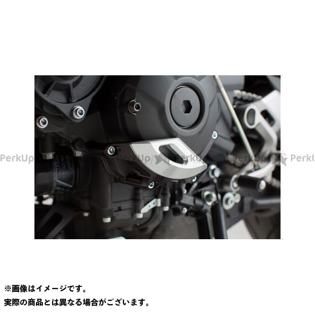 SWモテック MT-09 トレーサー900・MT-09トレーサー XSR900 エンジンケースプロテクター ブラック/シルバー XSR900(16-)/ MT-09 Tracer(14-) SW-MOTECH