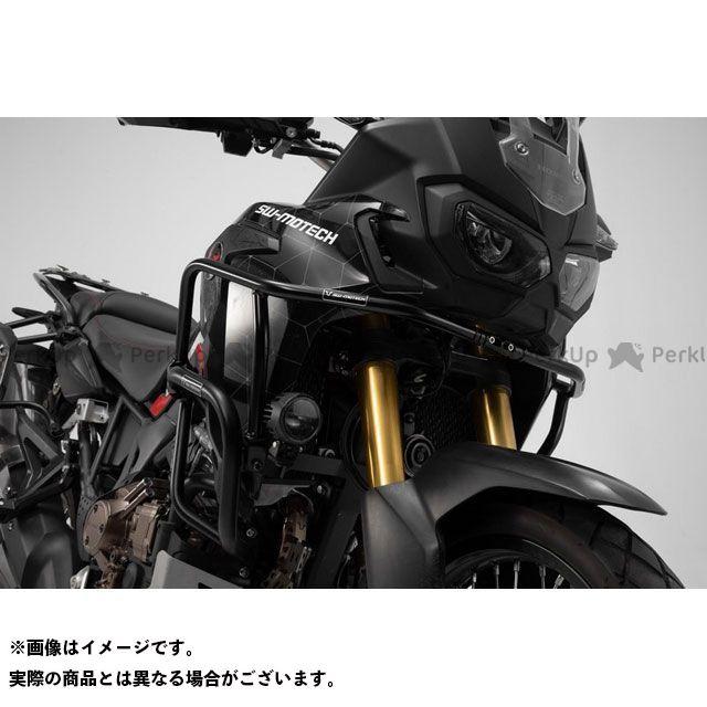 【エントリーで更にP5倍】SWモテック CRF1000Lアフリカツイン アッパークラッシュバー ブラック Honda CRF1000L Africa Twin(15-).|SBL.01.622.10200/B SW-MOTECH