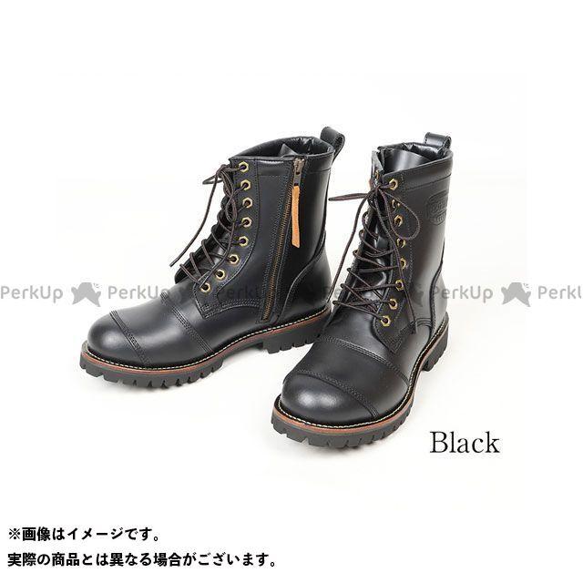 【エントリーで更にP5倍】DEGNER HS-B12 メンズレザーブーツ(ブラック) サイズ:27.0cm デグナー