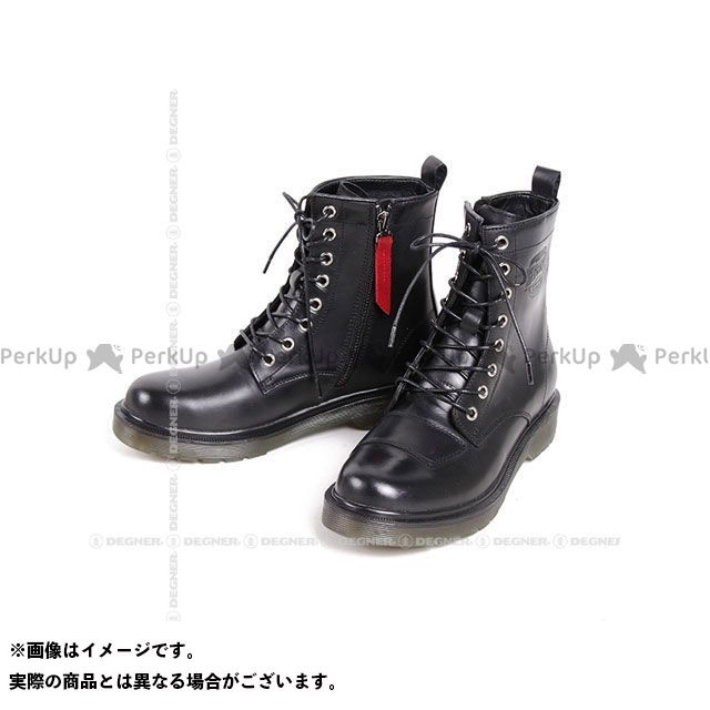 【エントリーで更にP5倍】DEGNER HS-B8 バイカーズブーツ(ブラック) サイズ:24.5cm デグナー