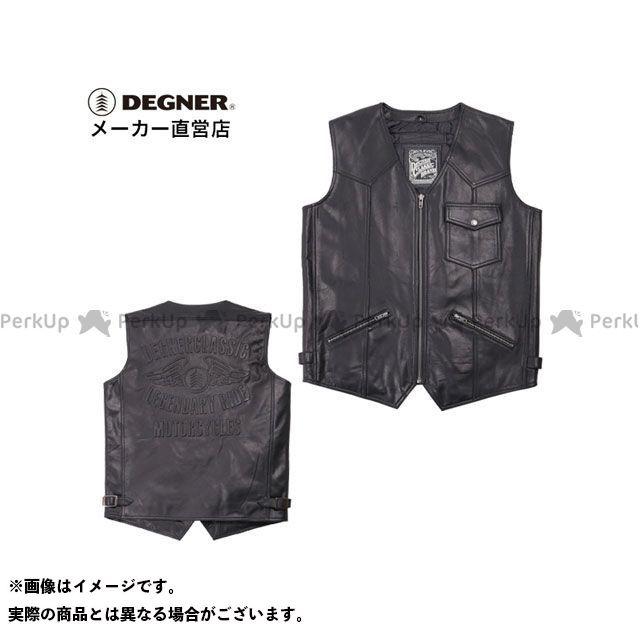 DEGNER V-17 レザーベスト(ブラック) サイズ:L メーカー在庫あり デグナー