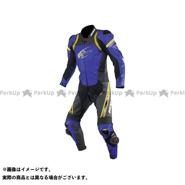 【エントリーで最大P21倍】コミネ 2020春夏モデル S-53 レーシングレザースーツ(メタリックブルー) サイズ:M KOMINE