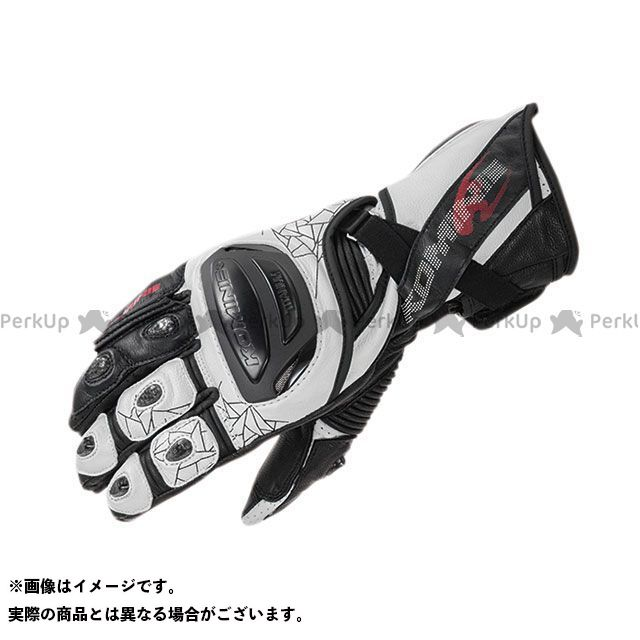 【エントリーで更にP5倍】コミネ 2020春夏モデル GK-235 チタニウムレーシンググローブ(ホワイト/ブラック) サイズ:S KOMINE