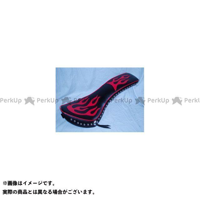 アメリカンドリームス シャドウ750 コブラシート赤ファイヤーwスタッドコンチョ付き黒(黒) American Dreams