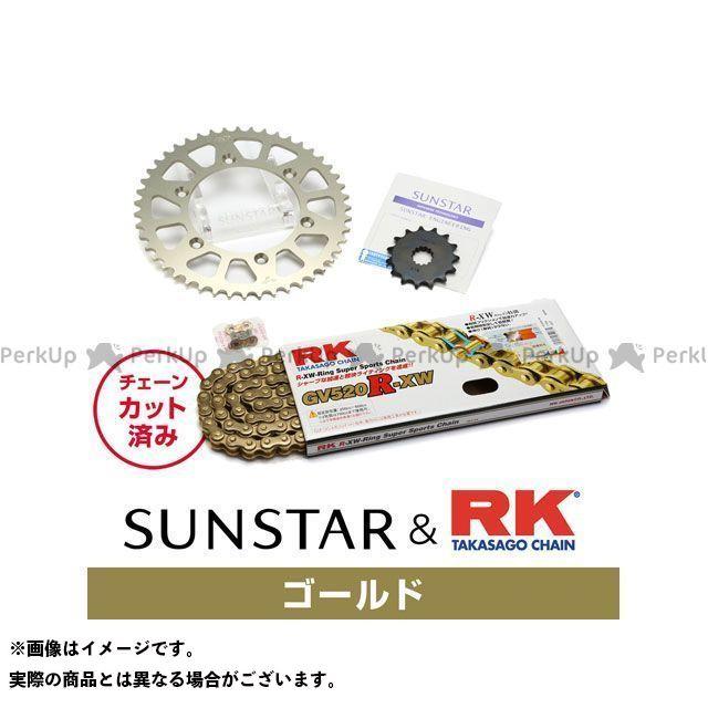 【特価品】サンスター ジェベル250GPS ジェベル250XC DR250R KR3A403 スプロケット&チェーンキット(ゴールド) SUNSTAR