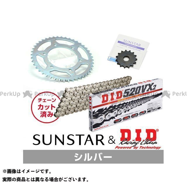 【特価品】サンスター MT-25 YZF-R25 YZF-R3 KD37806 スプロケット&チェーンキット(シルバー) SUNSTAR