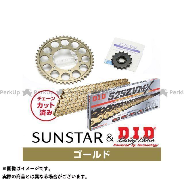 【特価品】サンスター GSX-S1000 GSX-S1000F GSX1000Sカタナ KD47513 スプロケット&チェーンキット(ゴールド) SUNSTAR
