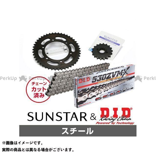【特価品】サンスター CBR1100XXスーパーブラックバード KD55315 スプロケット&チェーンキット(スチール) SUNSTAR