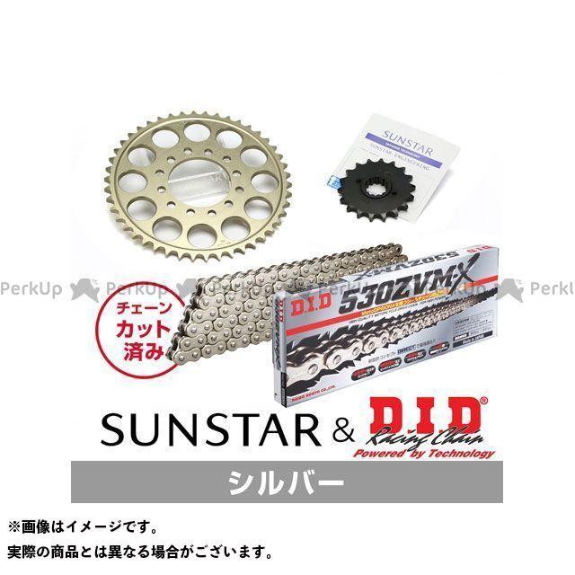 【特価品】サンスター GSX-R750 GSX-R750R KD57912 スプロケット&チェーンキット(シルバー) SUNSTAR