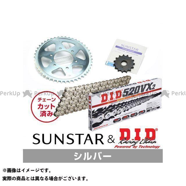 【特価品】サンスター GSX250FX KD3A906 スプロケット&チェーンキット(シルバー) SUNSTAR