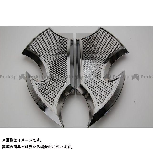 送料無料 ケンジムラカミ Art Of Aluminum Kenji Murakami フロアボード・ステップボード Floor Board 黒ニッケルめっき