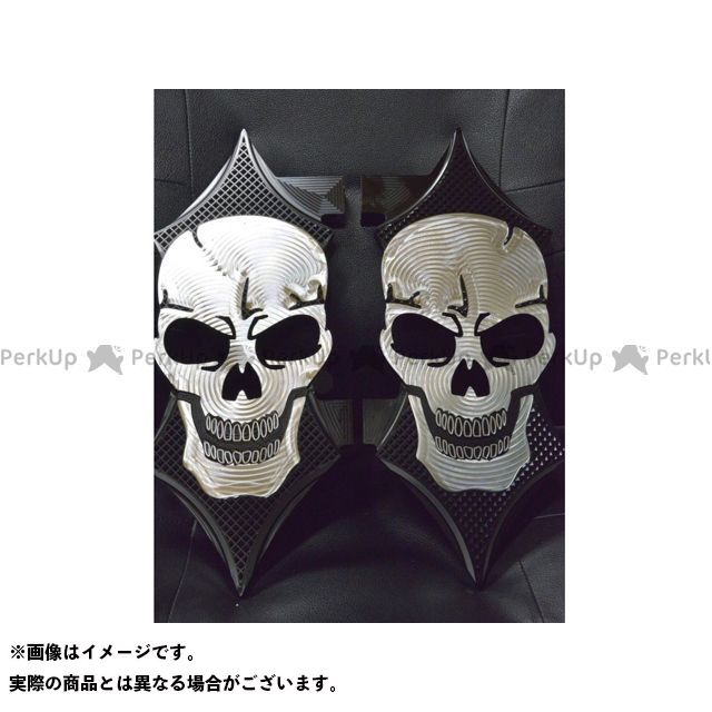 送料無料 ケンジムラカミ Art Of Aluminum Kenji Murakami フロアボード・ステップボード Skull Floor Board set