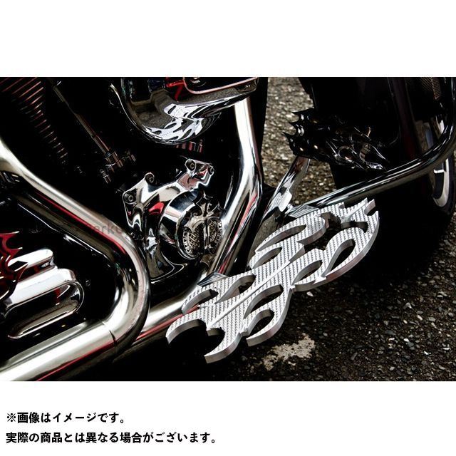 送料無料 ケンジムラカミ Art Of Aluminum Kenji Murakami フロアボード・ステップボード Floor Board -Flame 3- 黒ニッケルめっき