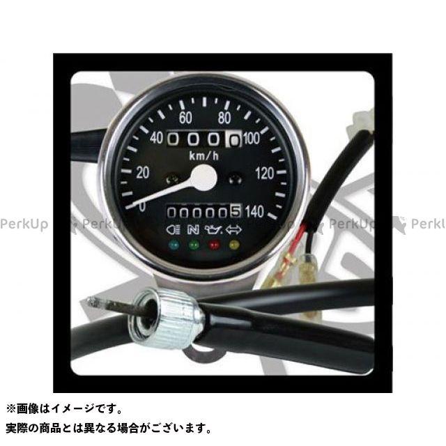 グッズ ドラッグスター400(DS4) メーターキット関連パーツ サイドマウントメーターキット φ60インジゲーターランプ付き DS400(~99)