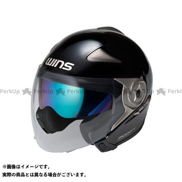 送料無料 WINS ウインズ ジェットヘルメット MODIFY JET メタリックブラック M/57-58cm
