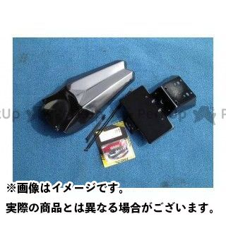 プレジャー DトラッカーX KLX250 リヤフェンダー(ナンバーステー付き) テール:レッド PLEASURE
