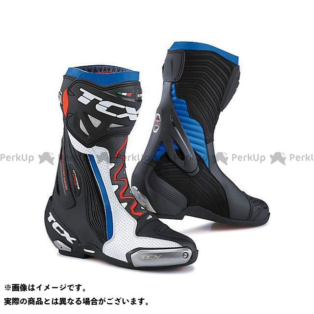 【エントリーで更にP5倍】TCX Boots RT-RACE PRO AIR WHITE/BLACK/BLUE サイズ:48 ティーシーエックス