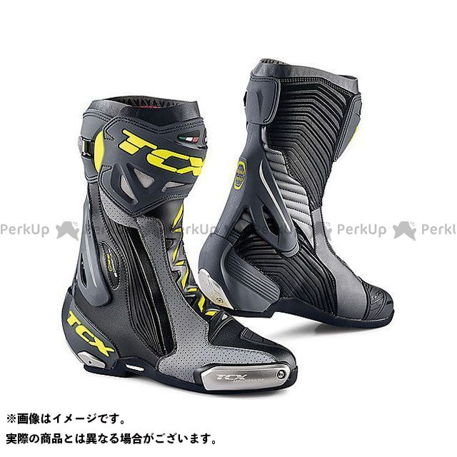 【エントリーで更にP5倍】TCX Boots RT-RACE PRO AIR BLACK/GREY/YELLOW FLUO サイズ:44 ティーシーエックス