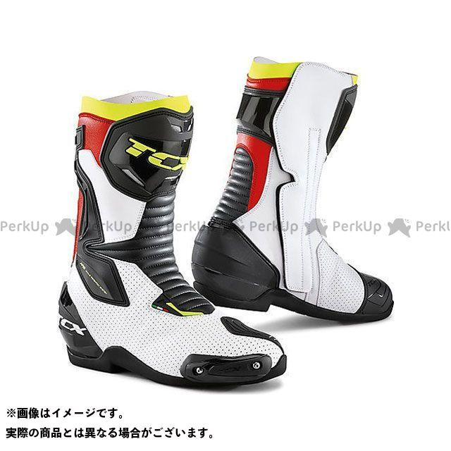 【エントリーで更にP5倍】TCX Boots SP-MASTER AIR WHITE/BLACK/RED サイズ:47 ティーシーエックス