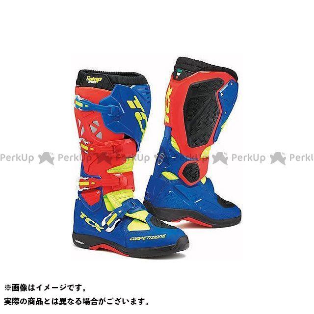 【エントリーで更にP5倍】TCX Boots COMP EVO 2 MICHELIN RED/BRIGHT BLUE/YELLO FLUO サイズ:42 ティーシーエックス