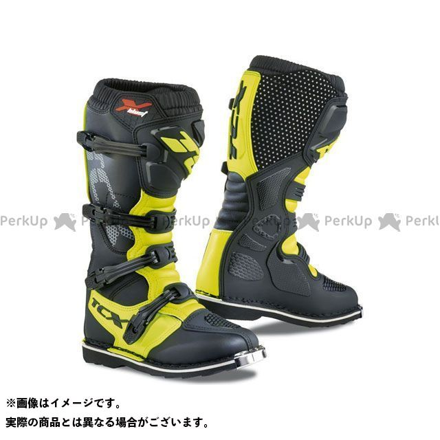 【エントリーで更にP5倍】TCX Boots X-BLAST BLACK/YELLOW FLUO サイズ:45 ティーシーエックス