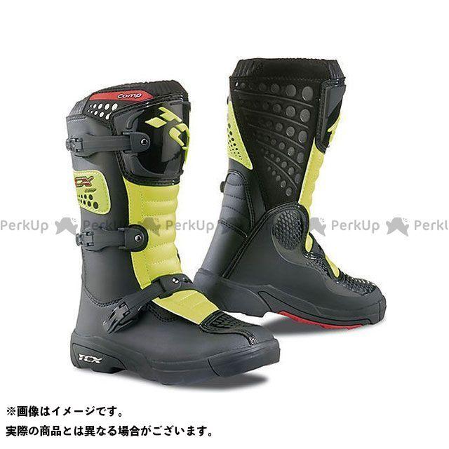 【エントリーで更にP5倍】TCX Boots COMP-KID BLACK/YELLOW FLUO サイズ:30 ティーシーエックス