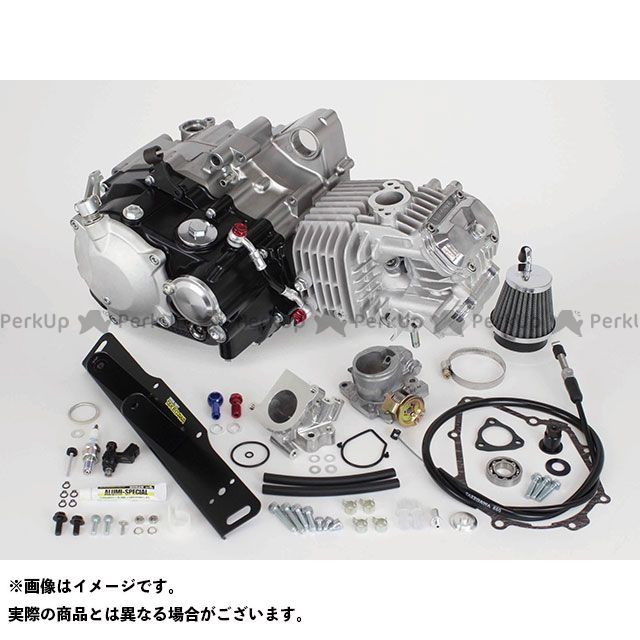 【エントリーで最大P21倍】SP武川 グロム スーパーヘッド4V+Rコンプリートエンジン181cc(湿式クラッチ仕様) TAKEGAWA