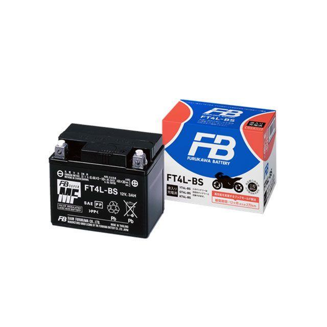 古河電池 汎用 バッテリー関連パーツ 高始動形 制御弁式(VRLA)バッテリー(FTシリーズ) 液入り充電済 FT12B-4