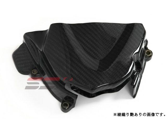 SSK デイトナ675 ストリートトリプル スプロケット関連パーツ スプロケットカバー ドライカーボン 平織り艶あり