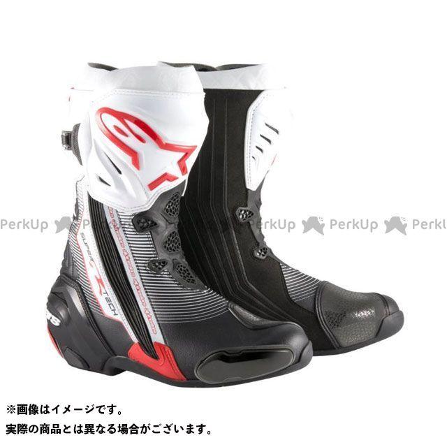 送料無料 Alpinestars アルパインスターズ レーシングブーツ スーパーテックR ブーツ ブラック/レッド/ホワイト 42