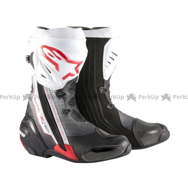 送料無料 Alpinestars アルパインスターズ レーシングブーツ スーパーテックR ブーツ ブラック/レッド/ホワイト 46