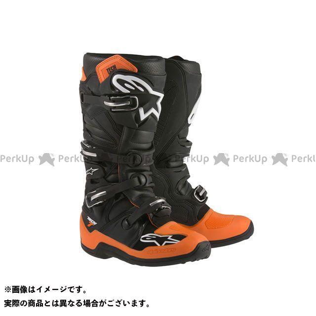 【エントリーで更にP5倍】Alpinestars テック7 カラー:ブラック/オレンジ サイズ:10/29.0cm アルパインスターズ