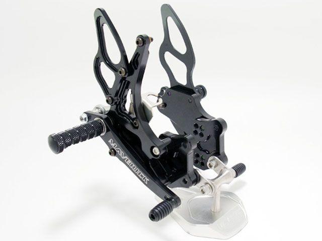 マーベリック GSX-R1000 GSX-R600 GSX-R750 バックステップ関連パーツ GSX-Rシリーズ バックステップキット(ブラック)