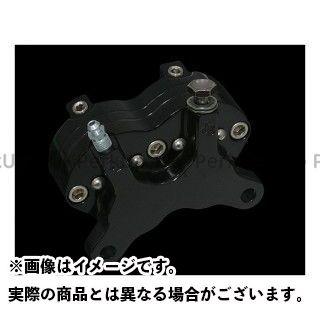 送料無料 ジェイブレーキ ハーレー汎用 キャリパー タブ付4ピストン クアッドキャリパー スムースデザイン ブラック